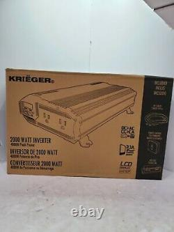 2000-Watt Power Inverter with Dual 110 Volt AC Outlets and 2 USB Port Automotive