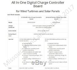 24 Volt All In One Hybrid Charge Controller Board with 2500 Watt Power Inverter