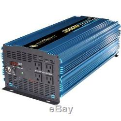 3500-Watt Power Inverter 12-Volt DC to AC 4 Outlets Car SUV RV Camping Tailgate