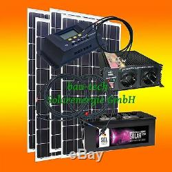 400watt Stand-Alone Power System Solar System, 12 Volt Set Optional Voltage