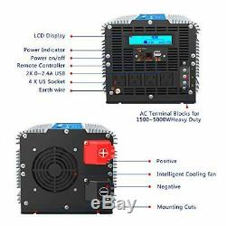 5000Watt Heavy Duty Power Inverter DC 12volt to AC 120volt with LCD Display 4