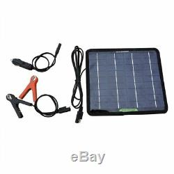 ECO-WORTHY 12 Volts 5 Watts Portable Solar Panel Power Battery Charger Backup