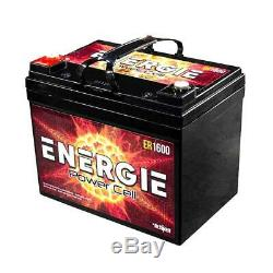 Energie ER1600 1600 Watts RMS 12-Volts Deep Cycle AGM Battery Power Cell