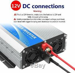 Giandel 1600Watt Power Inverter Dc 12Volt To Ac 120Volt With Remote Control Le