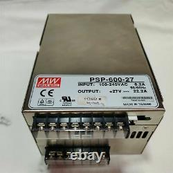 Meanwell PSP-600-27 Power Supply. 27 Volts @ 22 Amps. 600 Watts