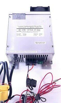 PC 45 Amp Power Converter Pack 12 Volt 725 Watts No Voltage Drop Thermal Safety