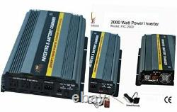 PIC2000-12 Power Inverter 2000 Watt 12 Volt DC To 110 Volt AC with 20amp Charge