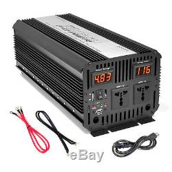 Pyle PINV3300 Plug In Car 3000 Watt 12V DC to 115 Volt AC Power Inverter with US