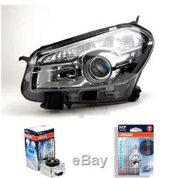 Xenon Headlight Left For Nissan Qashqai J10/JJ10 03/10- D1S/H7 with Indicator