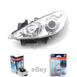 Xenon Headlight Left Peugeot 307 Year 07/05- D1S/H7 with Motor
